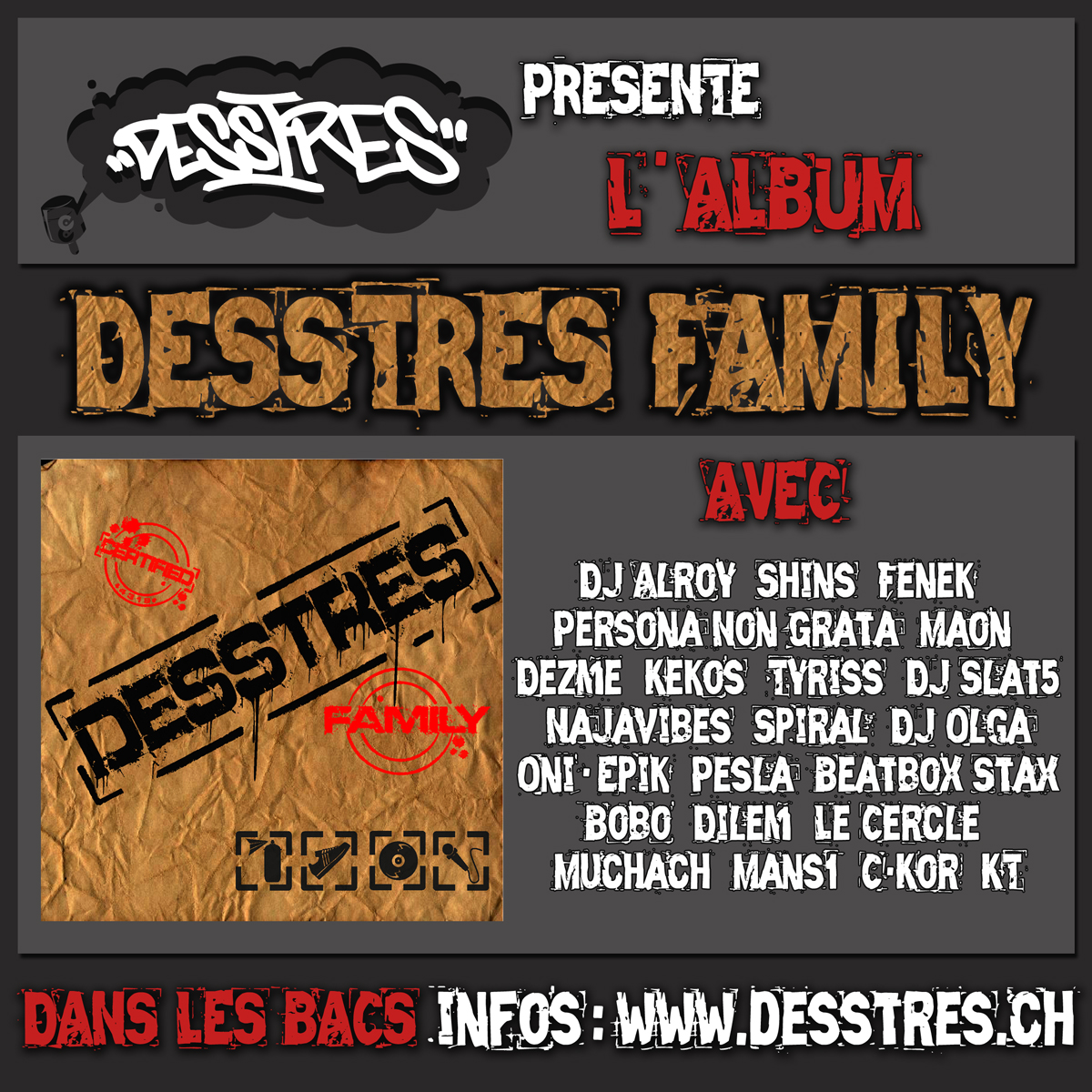 "Vernissage de l'album ""Desstres Family"""